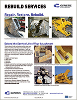 Reference guide for Genesis Rebuild Services.