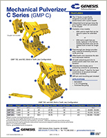 Spec sheet for GMP C Series (Genesis C Series Mechanical Pulverizer).