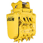 Genesis Hydraulic Rotary Grinder for attachment to construction machinery.