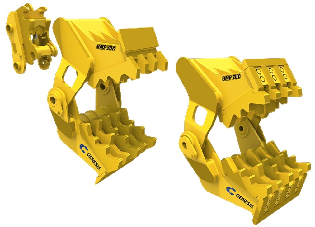 GMP C Series (Genesis C Series Mechanical Pulverizer) attachments facing right.