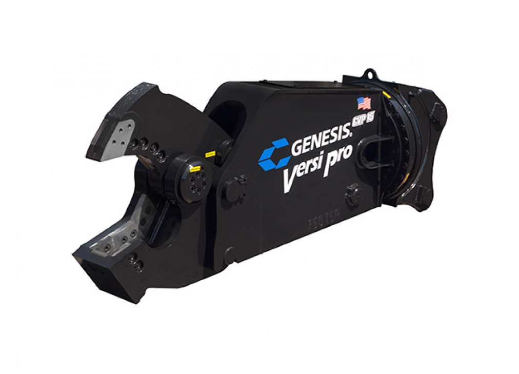 Genesis Versi Pro 15 with Shear Jaw attachment with open jaw facing left.