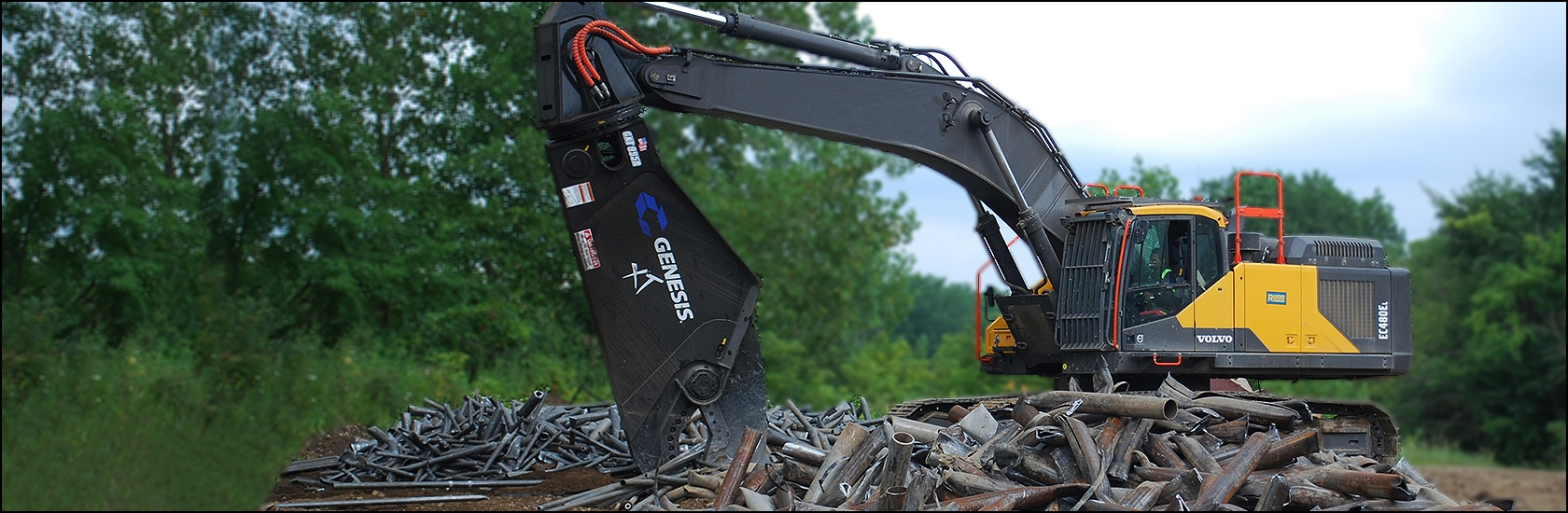 Genesis GXT Mobile Shear processing scrap.