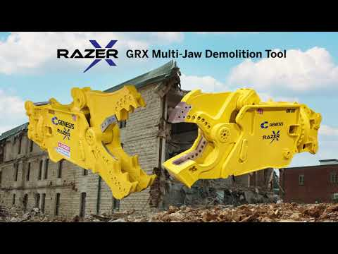 The GRX Multi-Jaw Demolition Tool eliminates the need for multiple machines with different attachments.