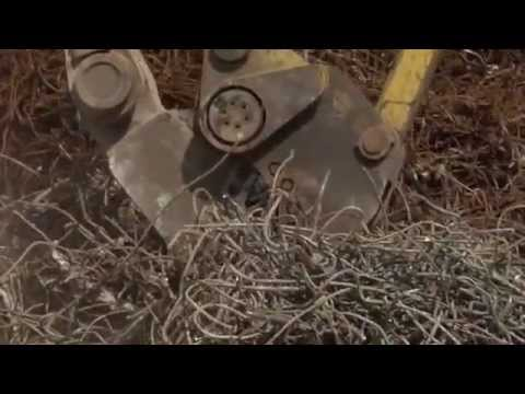 Watch the GRS (Genesis Rebar Shear) attachment devour a rebar spaghetti pile.