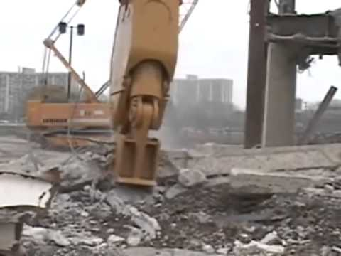 Watch the Genesis LXP with Pulverizer Jaws on a demolition site.