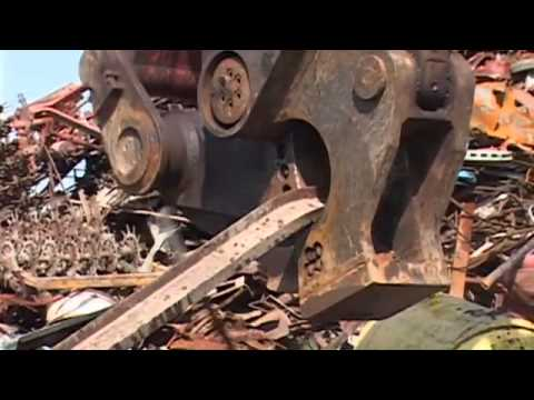 Watch the GLS (Genesis Linkage Shear) efficiently process a scrap pile.